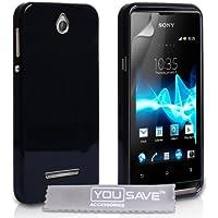 Sony Xperia E Tasche Sony Xperia E Schwarz Silikon Gel Hülle