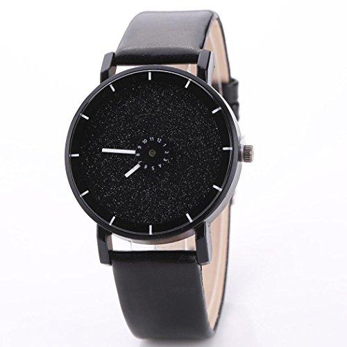 WINWINTOM Cuero color caramelo esmerilado reloj de pulsera