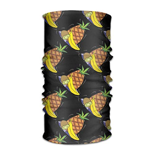 Cartoon Pineapple Banana Kiwi Headwear Bandanas Seamless Headscarf Outdoor Sport Headdress Running Riding Skiing Hiking Headbands (Chipmunks Cartoons Halloween)