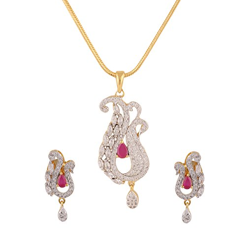 swasti-jewels-peacock-shaped-zircon-cz-traditional-fashion-jewelry-set-pendant-earrings-for-women
