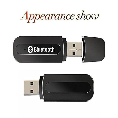 Mini USB sans fil Bluetooth Récepteur Audio, 3.5mm Musique adaptateur bluetooth Voiture Mains-libres Portable USB Bluetooth Récepteur pour les écouteurs, portables, haut-parleurs et audio de