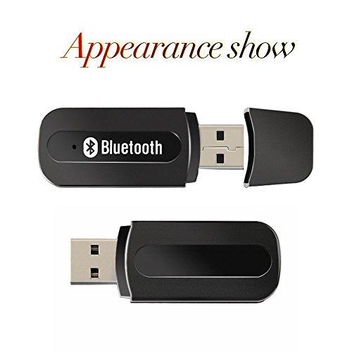 USB Bluetooth Musik Empfänger, Bluetooth Auto Adapter Tragbarer Drahtloser Musik-Empfänger, Audio-Adapter für Audio-Stereo-Lautsprecher und Kfz-Einbausatz