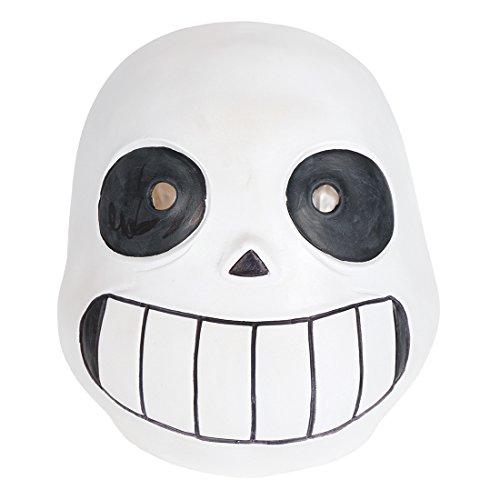 (CoolChange Undertale Latex Totenschädel Maske Kindergröße)