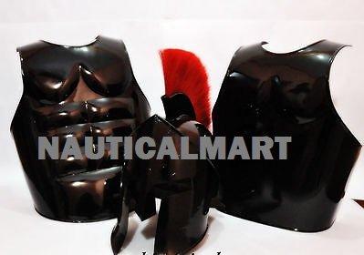 Halloween-Kostüm Muscle Griechische Armor mit 300 Spartan Helm von nauticalmart