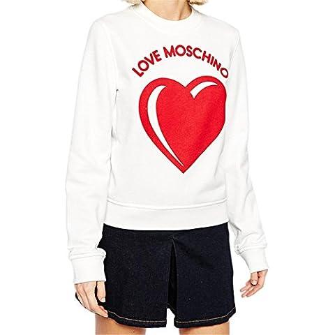 Love Moschino Letters Rosso a Cuori Stampato Graphic Grafica Scritta