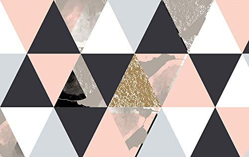 GRAZDesign Kunstdruck Dreiecke, Wanddeko farbig/bunt, Wandbild Abstrakt Alu-Dibond Bild / 120x80cm