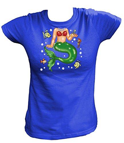 Kostüm Für Poseidon Mädchen (Artdiktat Damen T-Shirt - MERMAID Größe XL,)