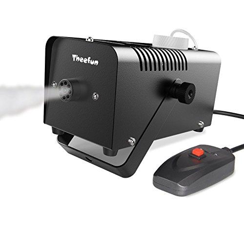 Theefun 400 Watt tragbare Halloween und Party Nebelmaschine mit verkabelter Fernbedienung