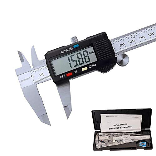 Digitale Messschieber 150 mm, Preciva Edelstahl Messlehre Messwerkzeuge Spritzwasserdicht Staubdicht mit LCD Anzeige und Ersatzbatterie