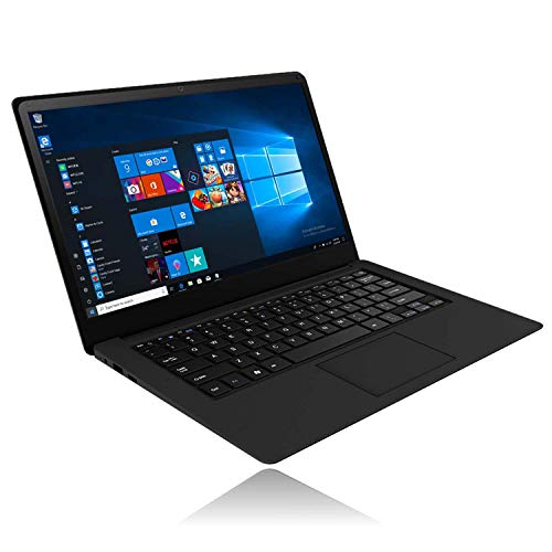 Laptop 14 Zoll Windows 10 - Winnovo Quad Core Notebook Intel Atom Prozessor, 1,92 GHz, 32GB HDD, 1920*1080 IPS Display, Deutsche Tastatur, WiFi, Bluetooth, HDMI, 2GB RAM, USB 3.0 (Schwarz) MEHRWEG - Display-tastatur
