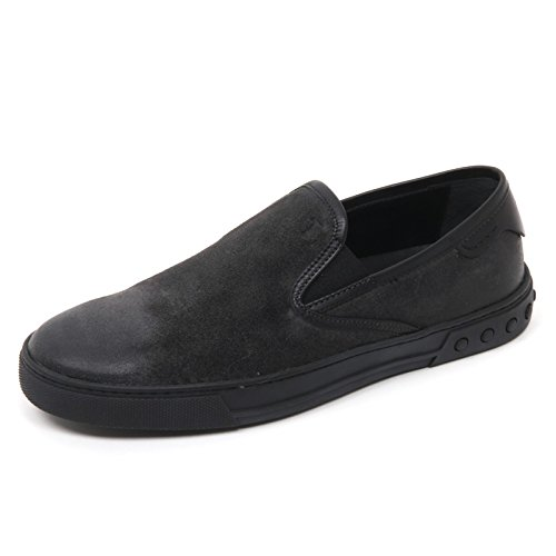 Tod's B9752 Sneaker Uomo CASSETTA Scarpa Dark Grey/BLACKC Slip on Shoe Man [9]