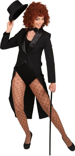 Orlob schwarzer Frack Damen Kostüm Karneval Fasching Gr.42/44