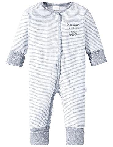 Schiesser Baby - Jungen Zweiteiliger Schlafanzug Anzug mit Vario, Gr. 92 (Herstellergröße: 092), Grau (grau-mel.