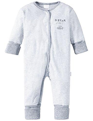 Schiesser Jungen Baby Anzug mit Vario Zweiteiliger Schlafanzug, grau-Mel. 202), 80 (Herstellergröße: 080)
