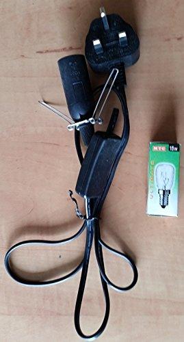UK Salt Lamp Replacement Electrical Lamp Light Fittings 2 Metal Clip -...