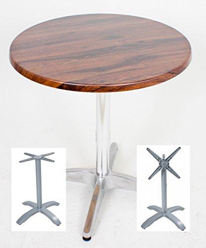Tischplatte EICHE ANTIK Ø70 cm & Tischgestell PICOS, 4-Fuß 305128 -