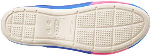 Crocs Colorblock W, Ballerines - Femme Cerulean Blue / Stucco