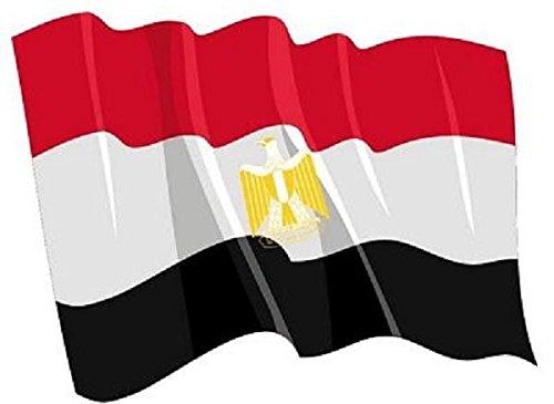 Preisvergleich Produktbild U24 Autoaufkleber wehende Flagge Ägypten 8,5 x 6 cm