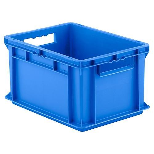 SSI Schäfer EF 4220 Eurokiste Kunststoffbox Transportbox offen ohne Deckel, 400x300 mm, 20,4 l, 15 Kg Tragkraft, Made in Germany, Blau