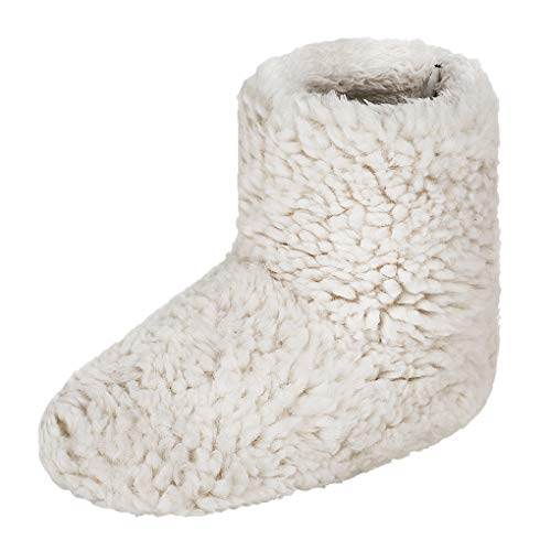 YJZQ Damen Hüttenschuhe Winter Plüsch Hohe Huasschuhe Hüttenstiefel Wärmeschuhe Rutschfeste Sohle Pantoffeln Warm Winterschuhe für Indoor und Outdoor