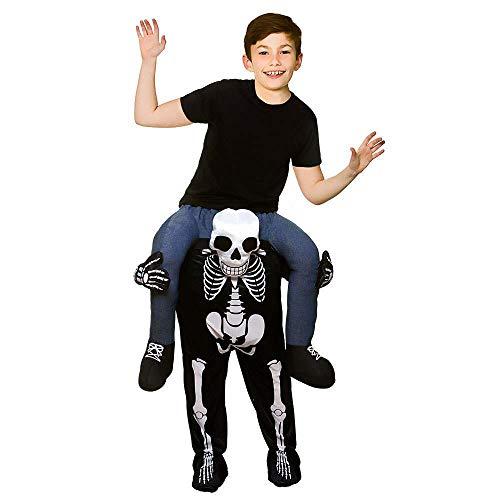Carry Me Kids SKELETON Kostüm Kostüm (8/10 Jahre)