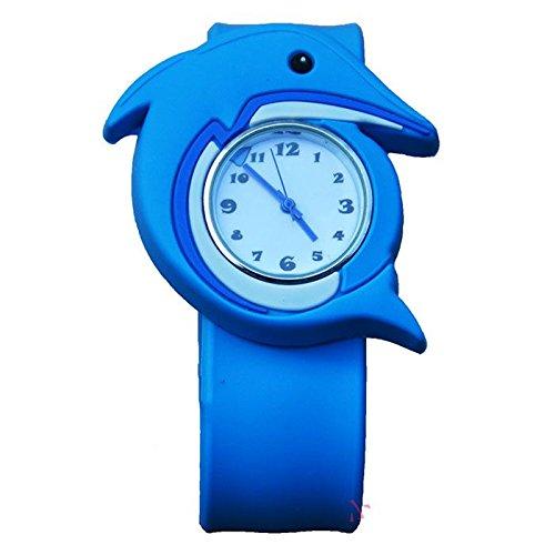 MMRM 3D Animal Mar unisex Niños /bebe reloj de pulsera de silicona reloj de cuarzo delfín