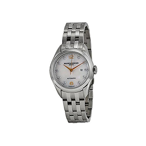 Baume & Mercier Clifton Femme Diamant 30mm Automatique Montre 10151