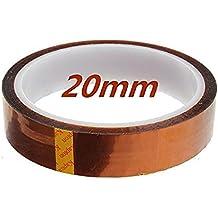 ulable 20 mm 33 M 100 pies Kapton cinta de alta temperatura resistente al calor Polyimide