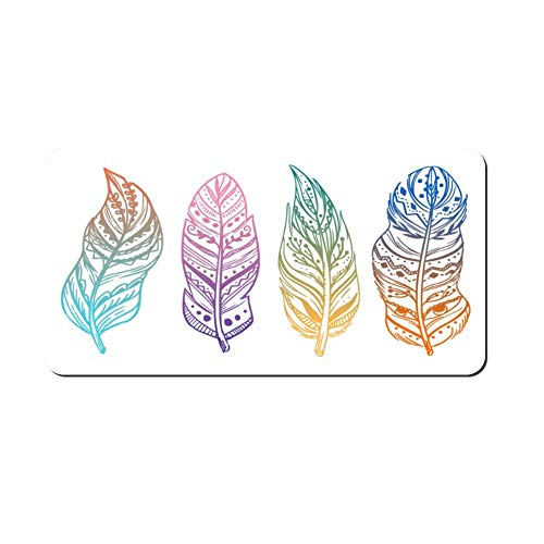 DKISEE Boho Feather Metal Front License Plate Tag Auto Car Tag Vehicle Tag 4 12x6 inches - Huntington Rose