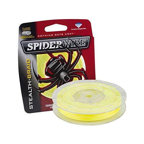 Spiderwire Unisex-Erwachsene 1339732 Angelrolle, Köder, Angel, Neongelb, 6/1 Pound Test-300 Yard