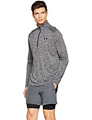 Under Armour Tech 2.0 1/2 Zip, Felpa Uomo, Multicolore (Black 002), XL