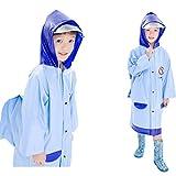 XJLG-Campingwanderung Regenmantel Regenjacke für Kinder, umweltfreundliche und atmungsaktive Wasserdichte Regenjacke für Kindergärten Fahrradanzug (Farbe : B, größe : XXL)