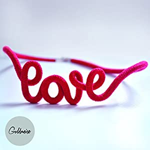 Goldmeise Statement-Kette 'love'
