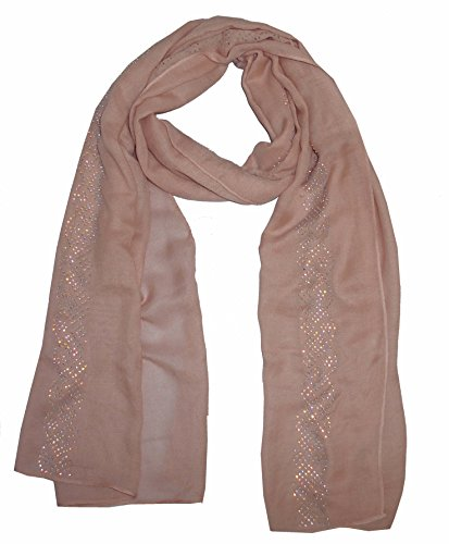 getwrapped Get Wrapped Stud work on Plain Scarf in Soft Milange Fabric(GW-S499-44)