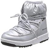 Moon-boot Jr Girl Low Nylon WP, Stivali da Neve Bambini e Ragazzi, (Argento 002), 36 EU
