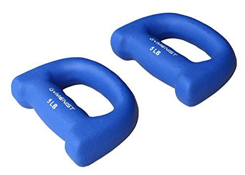 Ziyud Set von 2Hand Geformte Neopren Workout Jogging Walking Cardio Hanteln Paar, 5LB (Blue)