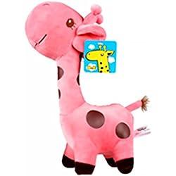 Animales de Peluche Jirafa Juguetes Plush Simulación Plush Jirafa Juguetes para Niños Bebés Juguetes para Bebés 1 Pieza Rosa