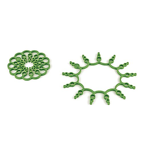 Kuhn Rikon Of Switzerland 2-Piece Silicone Pan Guard Trivet Set, Green