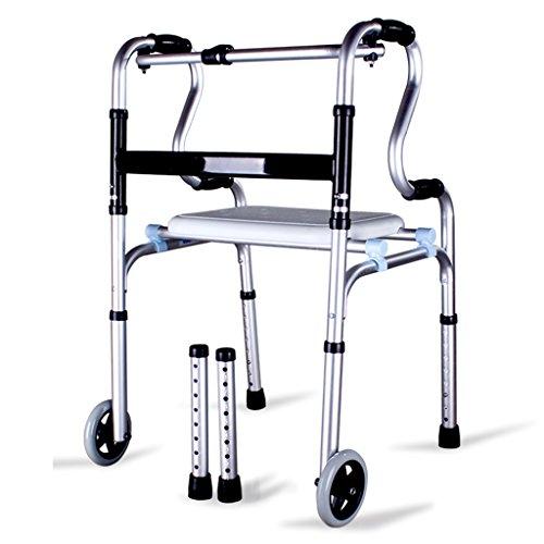 Guo Shop- Personnes âgées avec assise Auxiliaires Alliage d'aluminium épais Walkiet handicapé