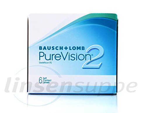Bausch & Lomb PureVision2 HD, 6 Stück / BC 8.6 mm / DIA 14 / -1.25 Dioptrien