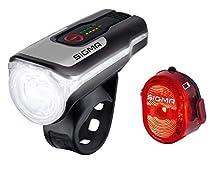 Sigma Sport Aura 80 USB/Nugget 2 Kit d'éclairage pour Adulte, Unisexe, Taille Unique, Noir, Mixte - Adulte, 204705, Noir , Taille Unique