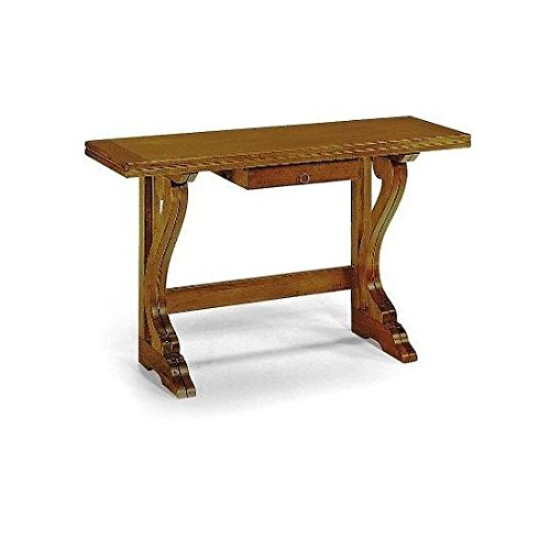 Estea mobili - tavolo consolle allungabile arte povera * table consolle wood made in italy * - 55-140 - come foto