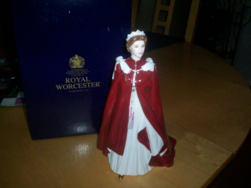 Royal Worcester QUEEN ELIZABETH 11 Commemorative Figurine