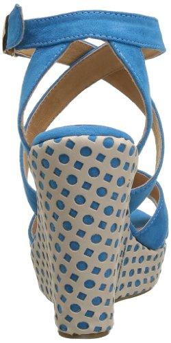 Elle Passy, Sandales compensées femme Bleu (Turquoise)
