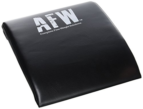 AFW 106013 - Colchoneta para Abdominales, Color Negro, Talla M