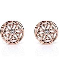 Silvity Damen Blume des Lebens Ohrstecker mit Crystals from Swarovski® Kristalle 959101-P-20