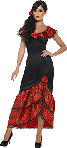 Damen Erwachsene Fancy Spanisch Rumba Salsa Outfit Flamenco Señorita Tänzerin ()