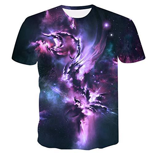 NSDX Herren 3D T-Shirt Neue Männer T-Shirt Space Galaxy 3D T-Shirt T-ShirtMännliche Sommer Tops Tees Casual Marke O Hals Hip Hop T-Shirt -