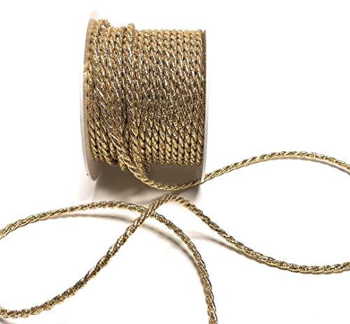 KORDEL 15m x 4mm gold Drehkordel KORDELBAND Dekoband SCHLEIFENBAND Schnur (Kordel Gold)