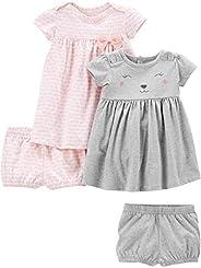 Simple Joys by Carter's Bebé-Niñas 2-pack Short-sleeve and Sleeveless Dress